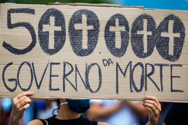 BRA: Protests Against Bolsonaro As Brazil Surpasses Half Million COVID Deaths