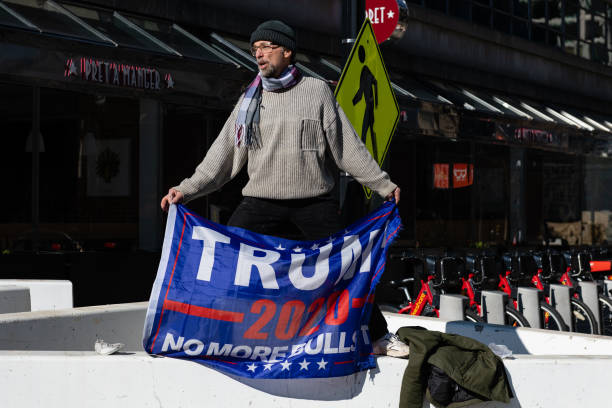 DC: Protests During Inauguration Of Joe Biden As 46th President Of United States