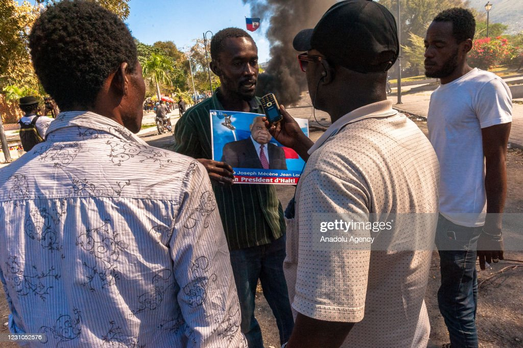 Haitians demonstrate President Jovenel Moise to give his resignation : Nieuwsfoto's