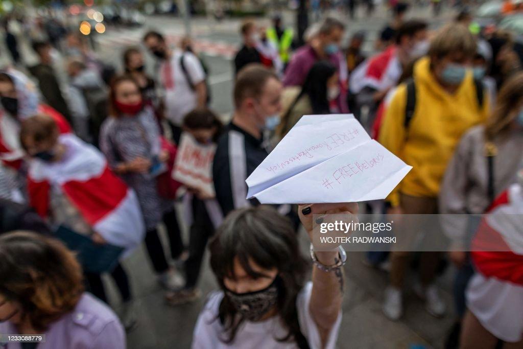 POLAND-BELARUS-POLITICS-UNREST-PROTASEVICH-DEMO : Foto di attualità