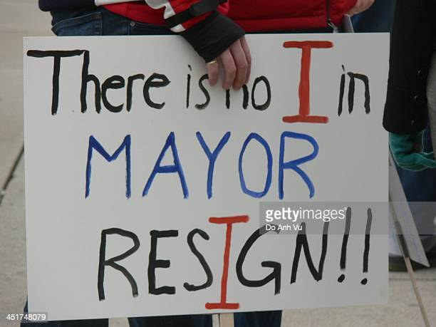 Demonstrator in front of Toronto's City Hall was holding a sign that urges the current mayor, Rob Ford who seems to be ignoring city council, to...