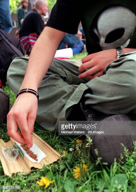 A demonstrator making a joint during a festival held on Clapham Common in support for the end of cannabis prohibition * Penalties for the possession...