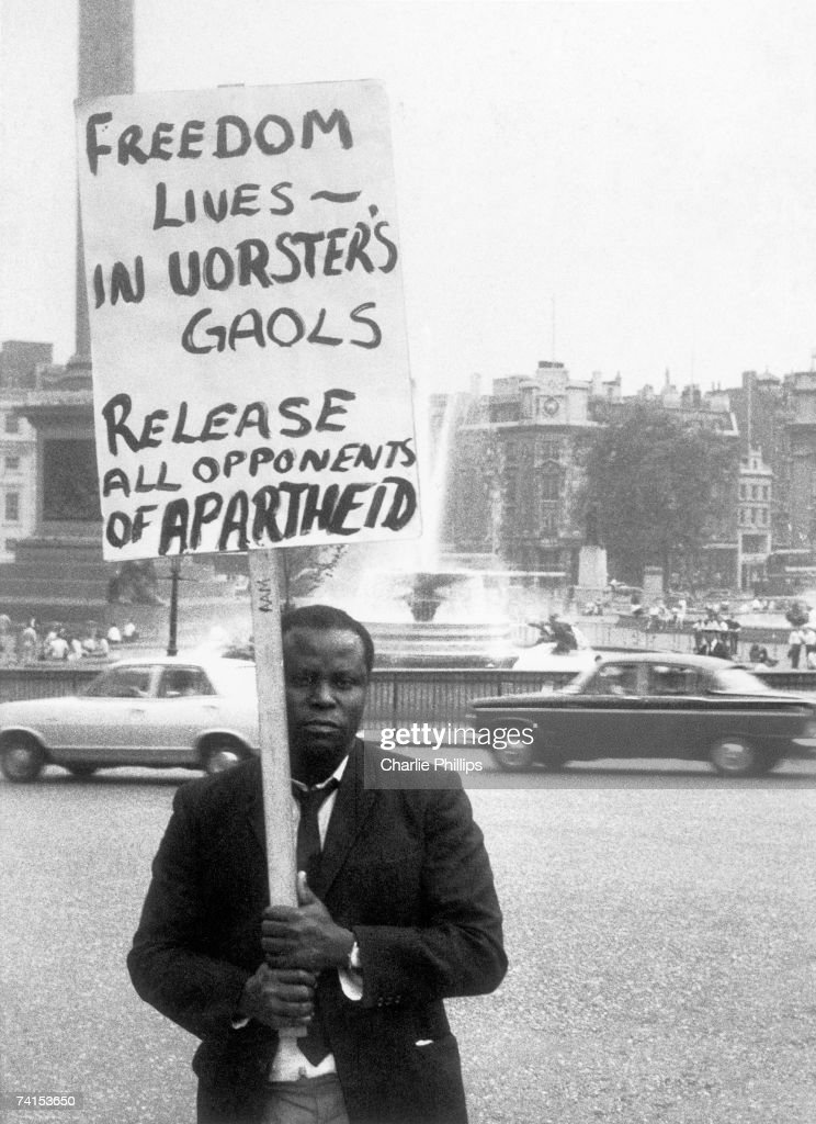 Anti-Apartheid Demonstrator : News Photo