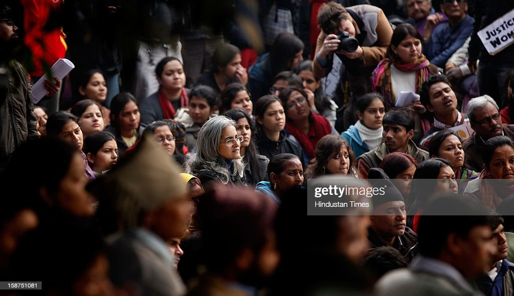 A demonstrator shouts slogans during a protest rally in New Delhi December 27, 2012. Indian Prime Minister Manmohan Singh pledged Thursday to take action to protect the nation's women while the young rape victim was flown to Singapore for treatment of severe internal injuries.