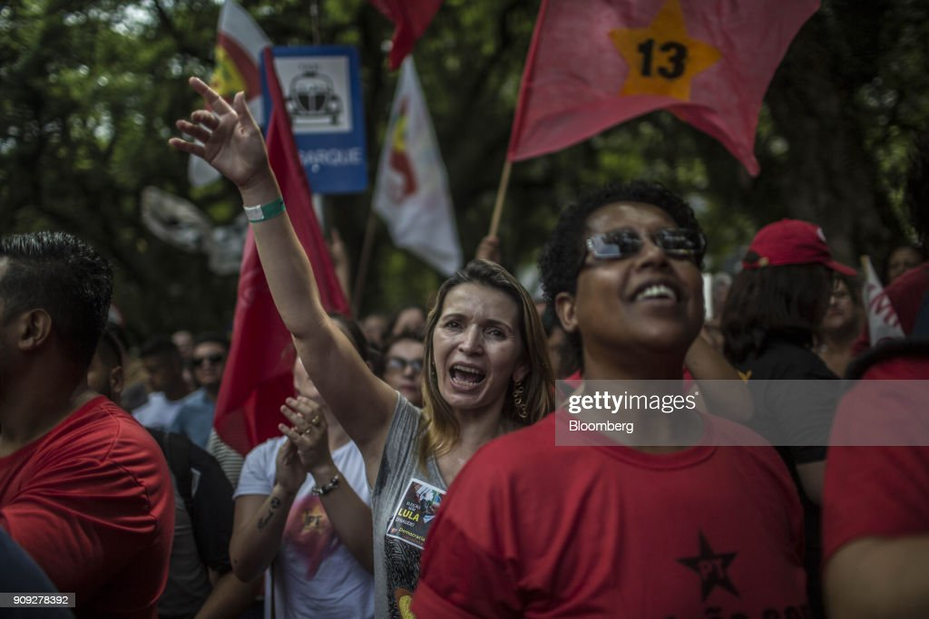 Security Preparations And Protests As Brazil Braces for Lula Appeal Ruling
