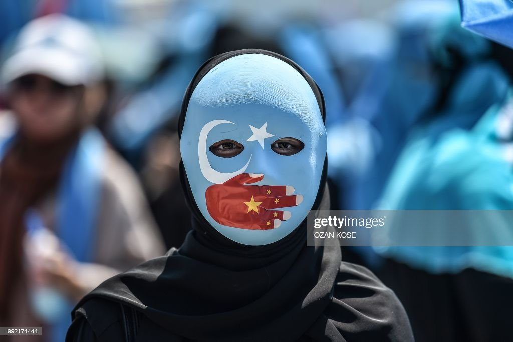 TOPSHOT-TURKEY-CHINA-UIGHUR-DEMO : Fotografía de noticias