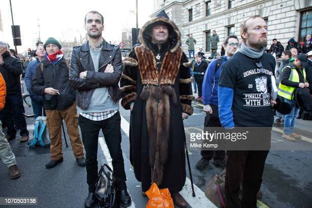 Demonstrator wearinga Tudor Long Coat at the Brexit Betrayal March Brexit Means Exit organised by the UK Independence Party described as a crossparty...