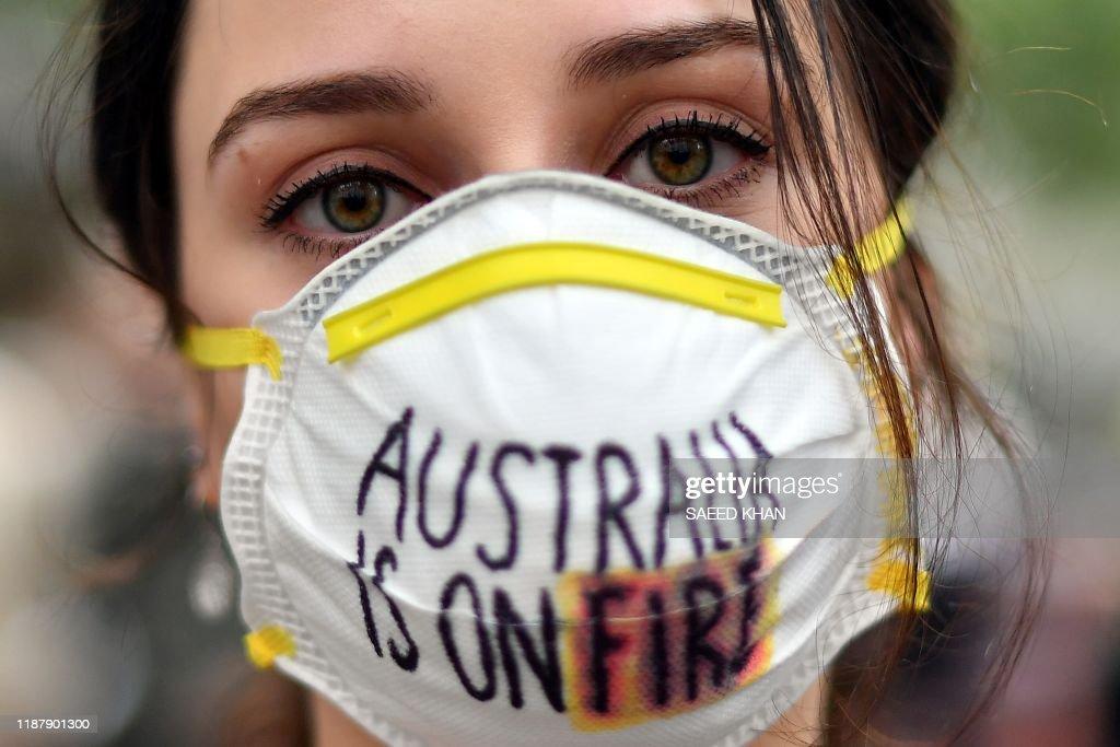 AUSTRALIA-FIRE-CLIMATE-HEALTH : News Photo