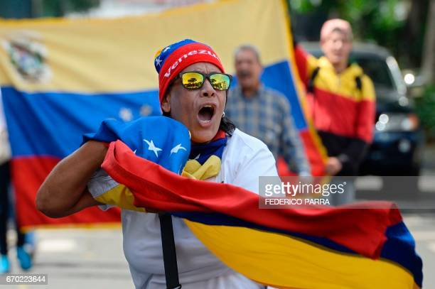 Demonstrators against Nicolas Maduro's government start gathering at the east side of Caracas on April 19 2017 Venezuela braced for rival...