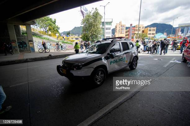 Demonstrators and police clashed during the 21N commemorative demonstrations against the government of president Ivan Duque at Universidad Nacional...