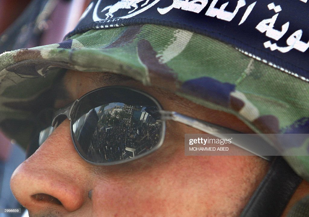 Demonstrators are reflected in the sungl : News Photo