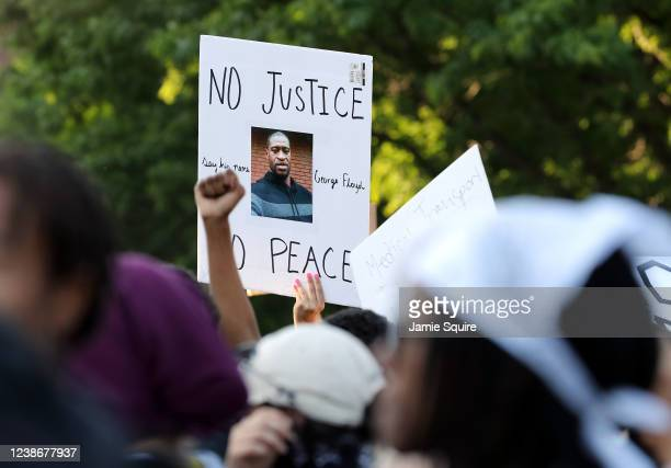 Demonstrators are seen at a protest on May 31, 2020 in Kansas City, Missouri. Protests erupted around the country in response to the death of George...