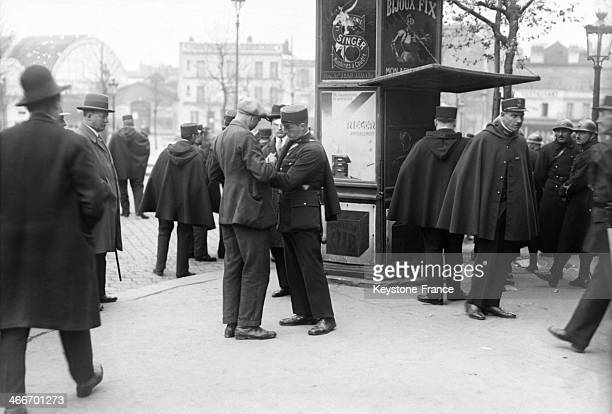Demonstrators arrested during a Labour Day demonstration on May 1 1929 in Paris France