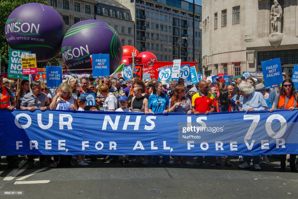 70th Birthday of the NHS In London : News Photo