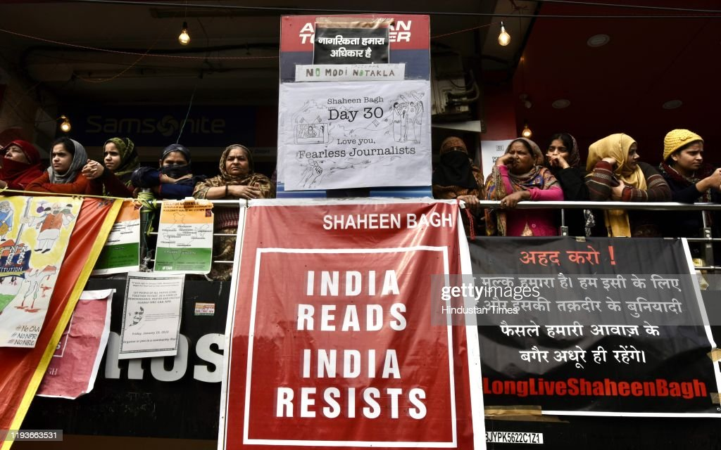 Protest Against CAA, NRC At Shaheen Bagh In Delhi : News Photo