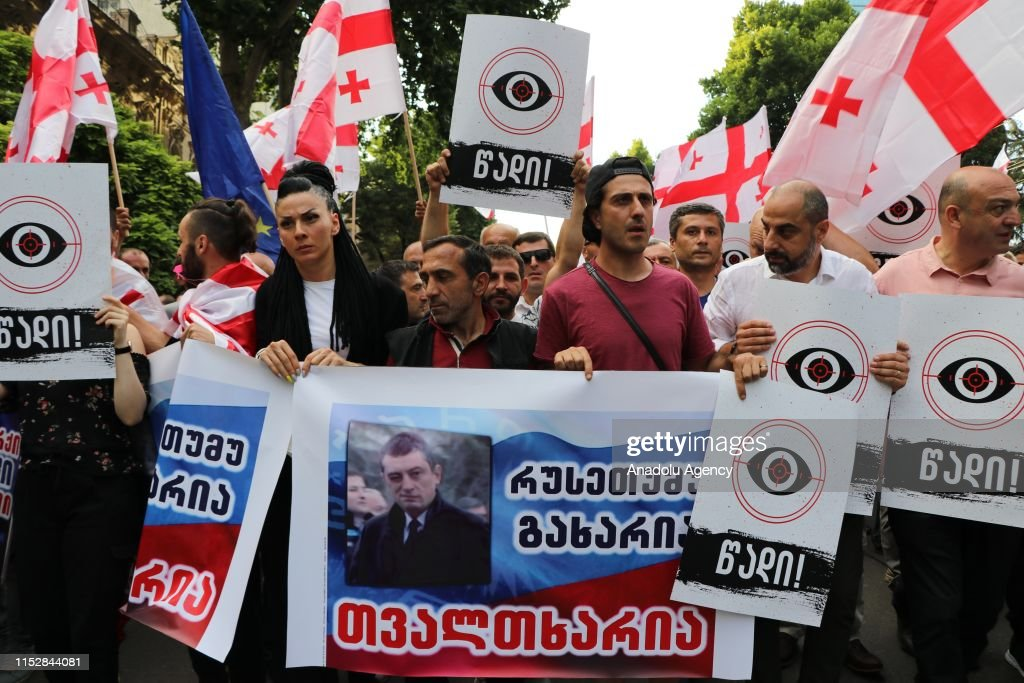Protests continue in Tbilisi : News Photo