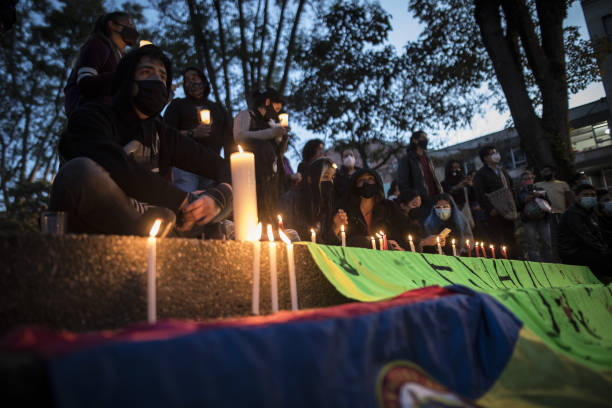 COL: Demonstrators Gather For March As Unrest Continues In Colombia