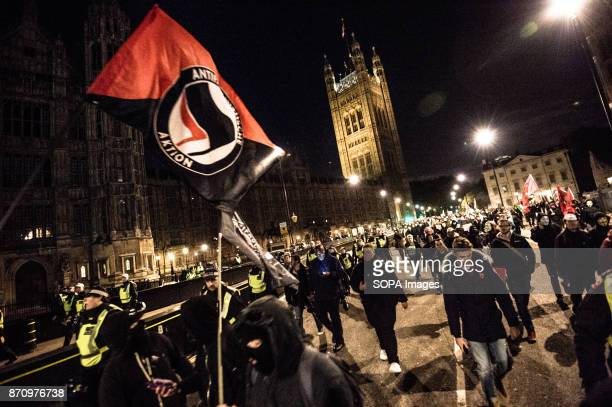 Demonstrators attend the Annual Million Mask March bonfire night protest advertised as a 'world wide protest' organized by activist group Anonymous...