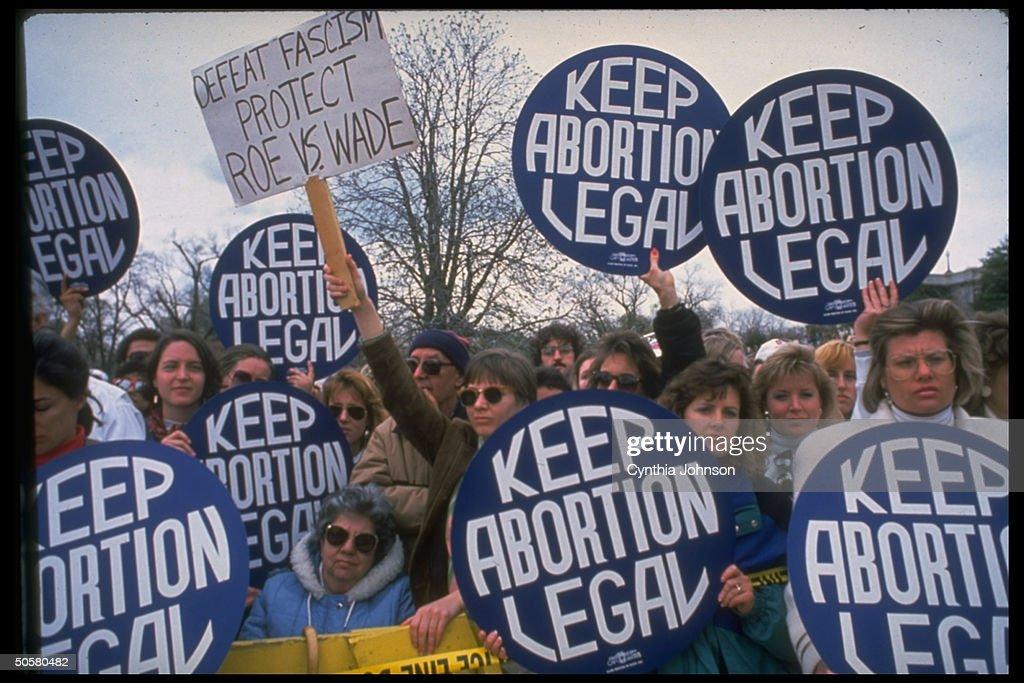 Demonstrators carrying giant keep aborti : News Photo