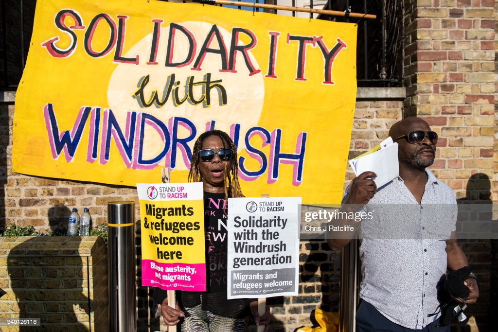 Stand Up To Racism Demonstration In Support Of The Windrush Generation
