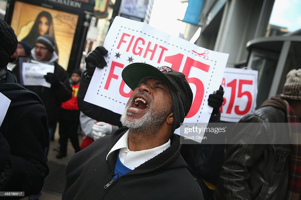 Fast Food Workers Organize Nat'l Walkout Over Low Wages : News Photo