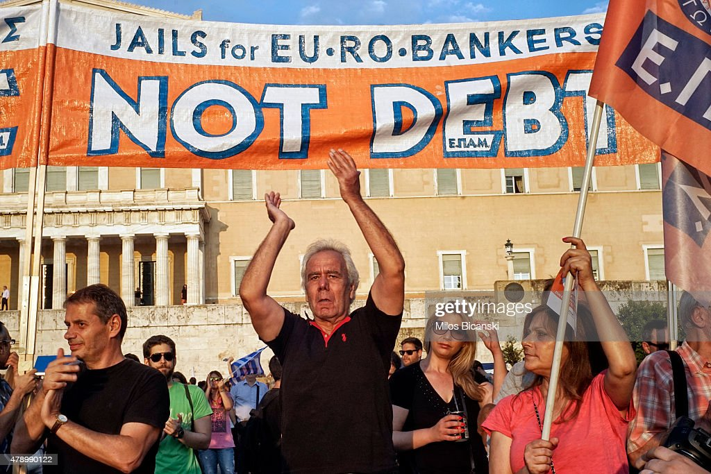Greece On The Brink Of Financial Collapse As Banks Close For At Least A Week : News Photo