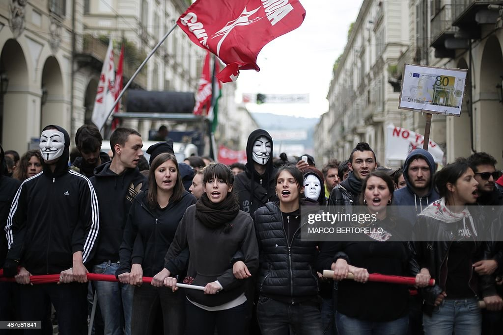 ITALY--MAYDAY-PROTEST : News Photo