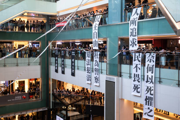 CHN: Demonstrators Stage Sit In At Hong Kong's New Town Plaza Shopping Mall