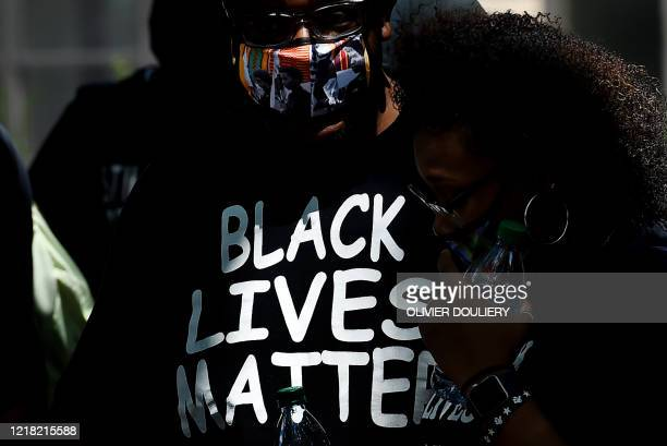 Demonstrators gather at the Malcom X Park during a peaceful protest against police brutality and the death of George Floyd on June 7 2020 in...
