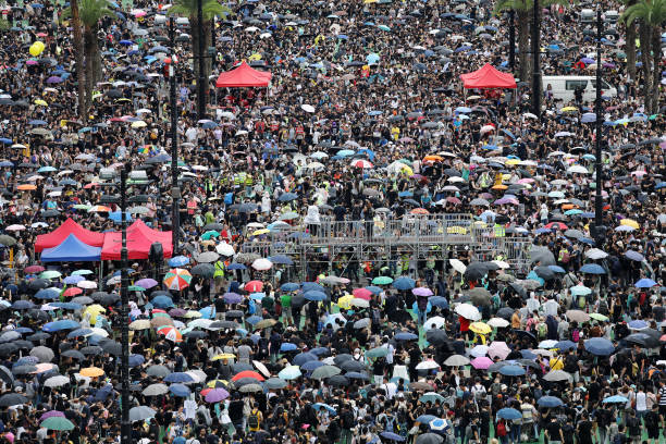 CHN: Demonstrators Attend Anti-Government Protest In Hong Kong