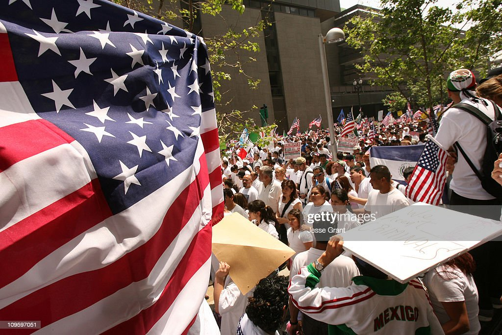 Immigrants and their supporters Rally and Hold Nationwide Boycotts - May 1, 2006 : News Photo