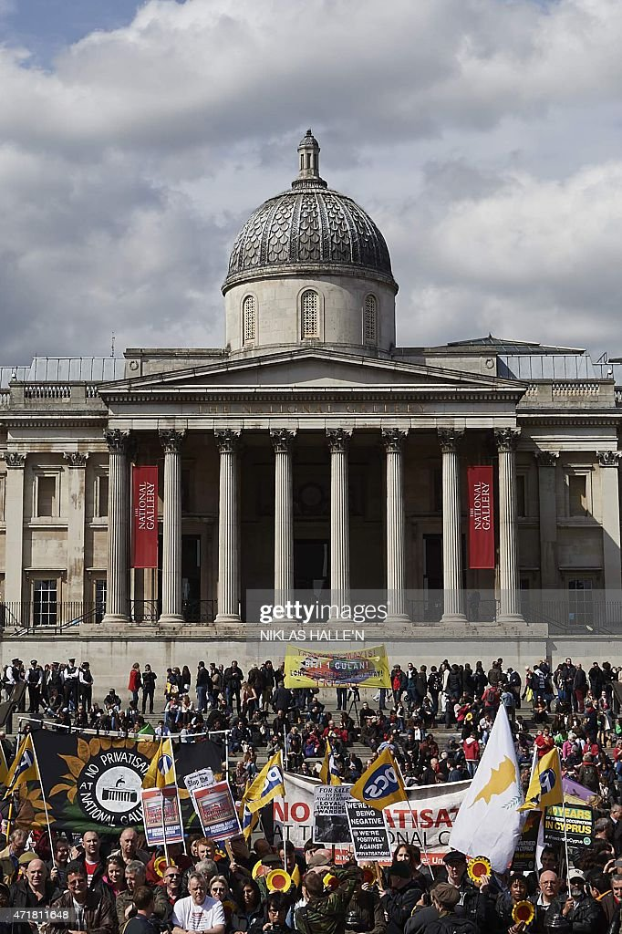 BRITAIN-MAY1-PROTEST-LABOUR : News Photo