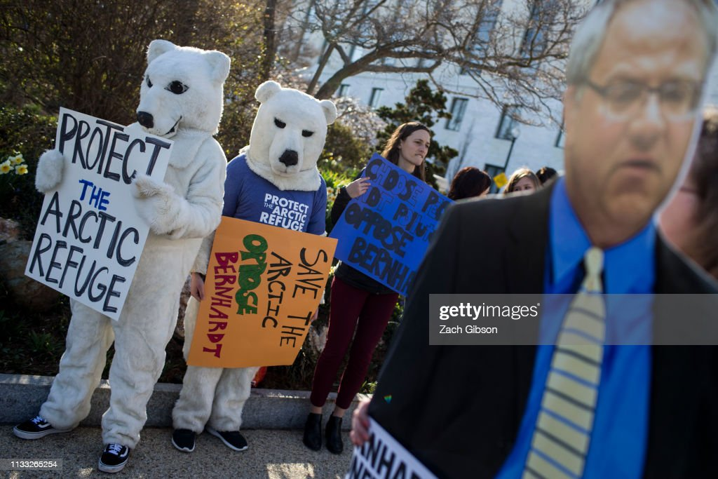 Environmental Groups Protest David Bernhardt's Nomination For Secretary Of The Interior : News Photo