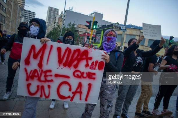 Demonstrators gather to protest against the assassination caused by police officers of Javier Ordonez back in september 8, demonstrations escalated...