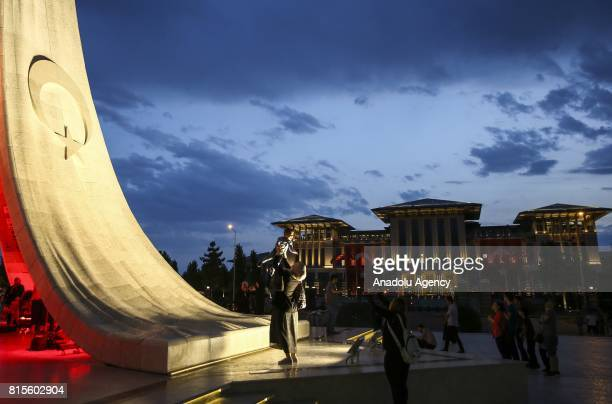 Demonstrators gathered for democracy watches around of July 15 Martyrs Monument at the Presidential Complex within the July 15 Democracy and National...