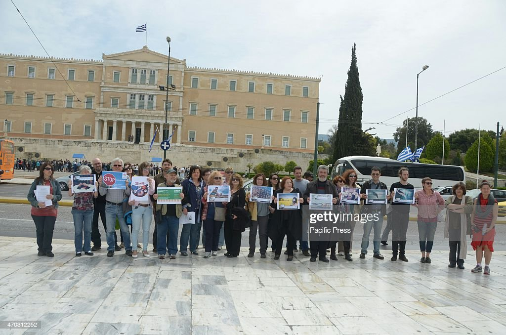 Demonstrators Gathered In Syntagma Square To Demonstrate Pictures
