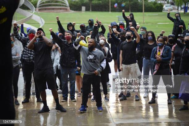 Demonstrators gathered to decry the death and honor the life of Elijah McClain in Aurora Colorado on June 6 2020 McClain was declared brain dead in...