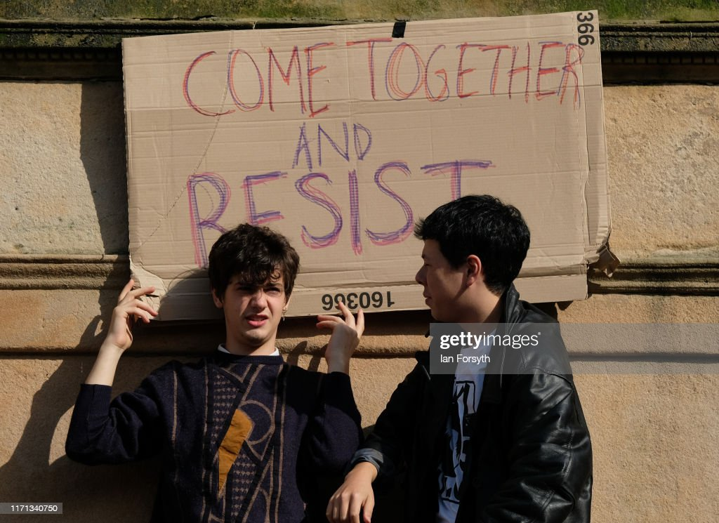Momentum Hold Stop The Coup Protests Across The UK : News Photo