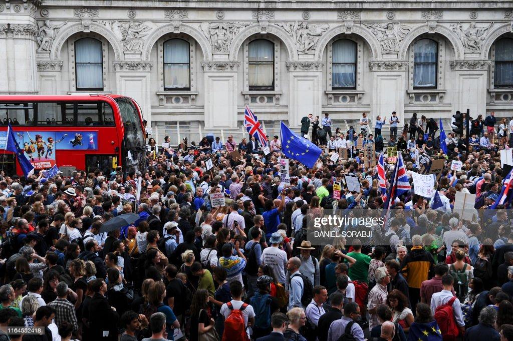 TOPSHOT-BRITAIN-EU-POLITICS-BREXIT : News Photo