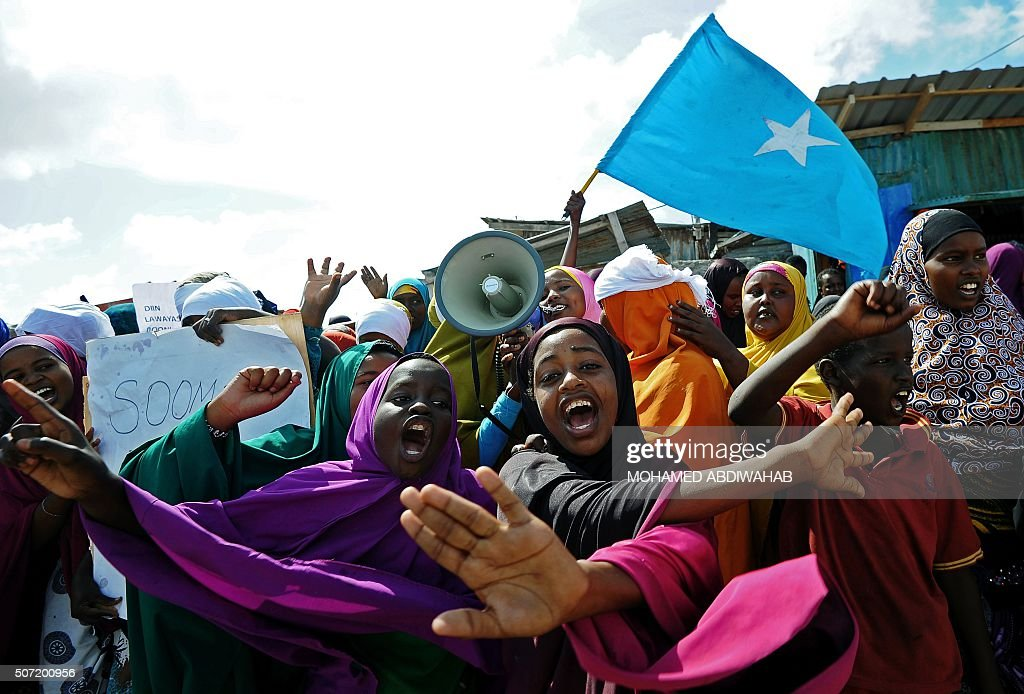 SOMALIA-UNREST-DEMO : News Photo