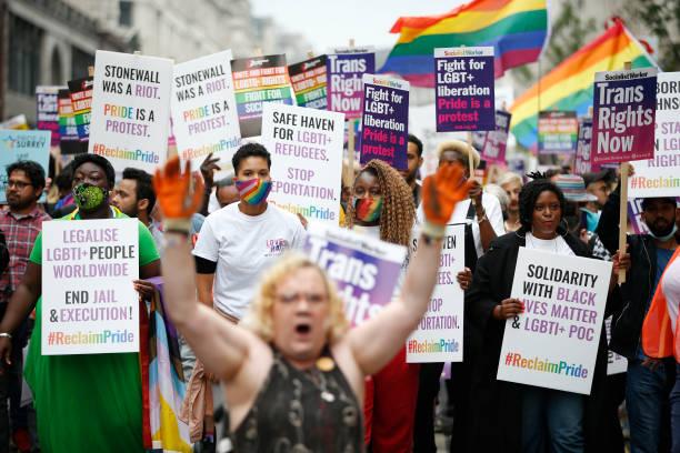 GBR: Reclaim Pride Protest Tells Boris Johnson To Stop Stalling on LGBT Rights