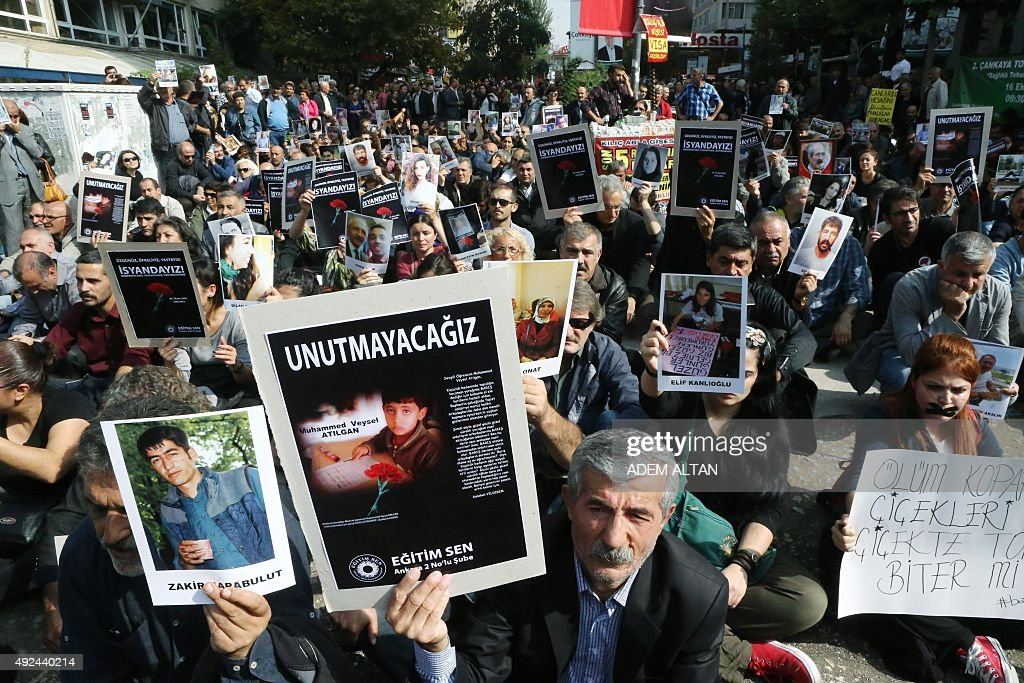 TURKEY-ATTACKS-PROTEST : News Photo