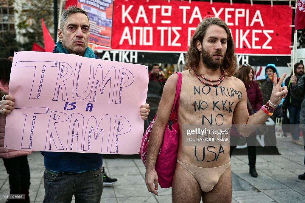 GREECE-US-POLITICS-WOMEN-DEMO : News Photo