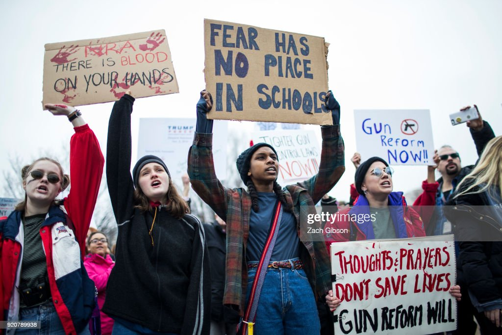 Teens For Gun Reform Hold Protest At The White House : News Photo
