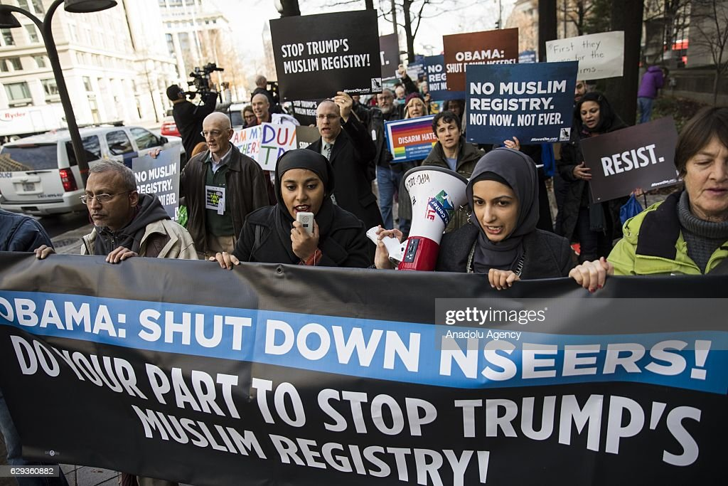 Anti Muslim Registry Protest in Washington : News Photo