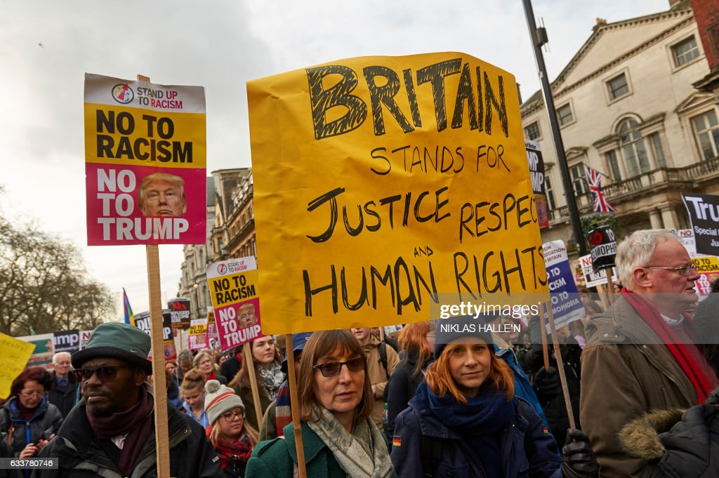 BRITAIN-US-PROTEST : News Photo