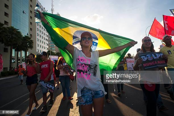 Demonstrators in Brazil