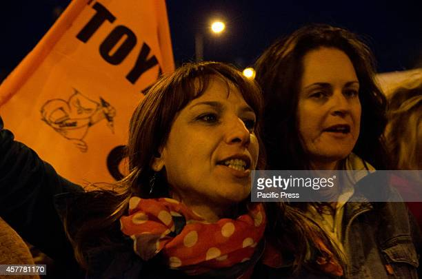 Demonstrators in the majority teachers shout anti government and anti austerity slogans as they march through the streets of Athens on their way to...