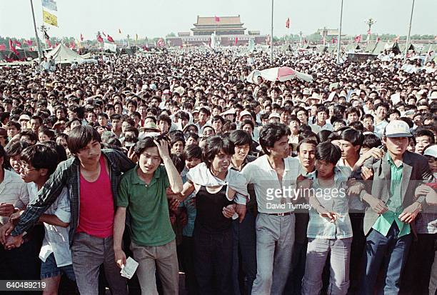 Demonstrators in Tiananmen Square