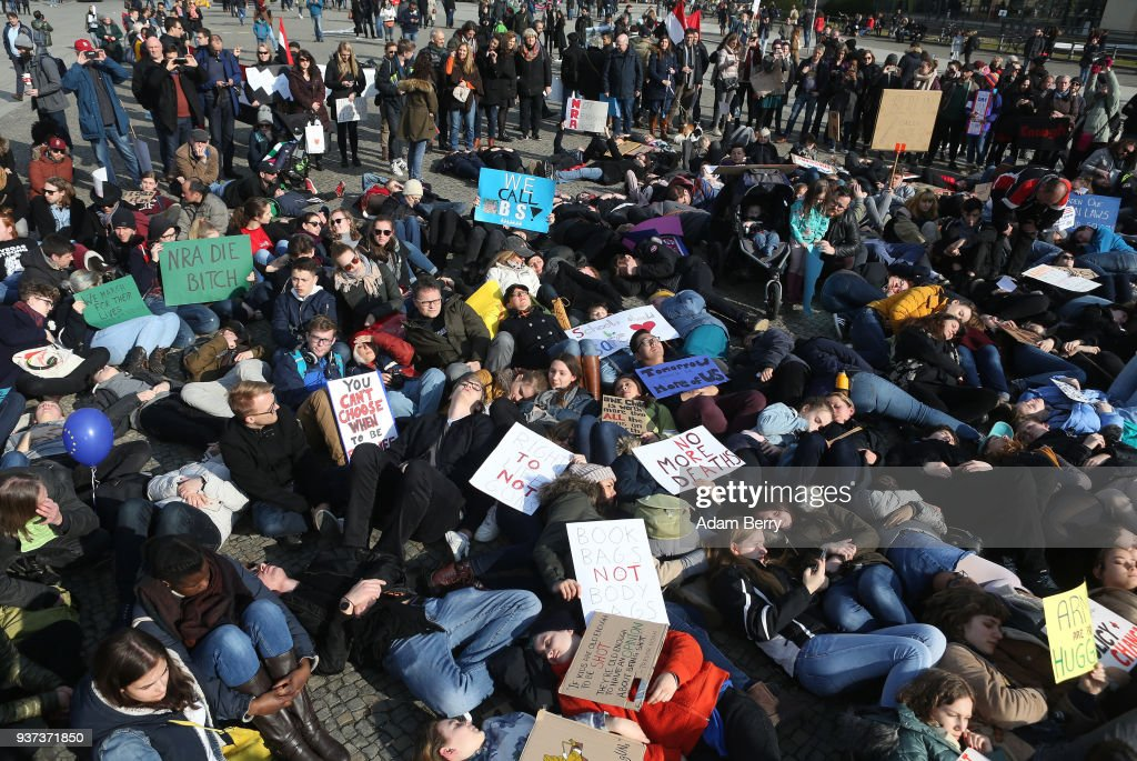 """""""March For Our Lives"""" Rally In Berlin : News Photo"""